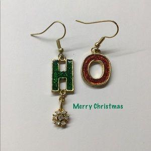 Christmas Earrings, HO HO Earrings